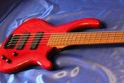 Бас-гитара Dean edge 5,  Made in Korea RED