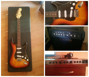 Набор гитариста Fender Squier Vintage Modified Strat RW 3SB+комб+проц
