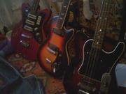 Продам эл.гитару Музима 25к ГДР и Ирис бас Чехословакия г.Синельниково