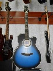 Новая Акустическая Гитара Leo Tone L-01 синяя